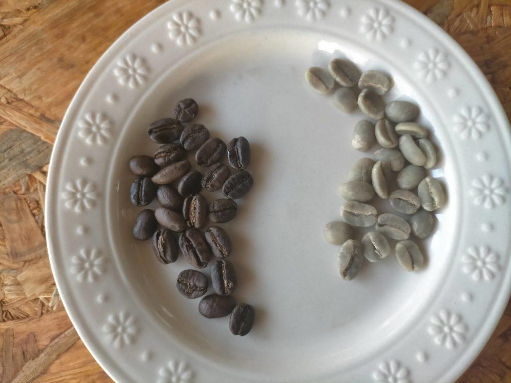 焙煎豆と生豆