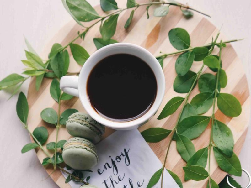 コーヒーとグリーン